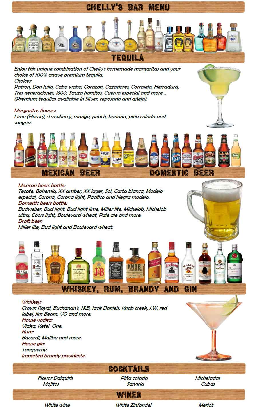 Saloon Drink Menus Template Pictures to Pin PinsDaddy – Drinks Menu Template Free